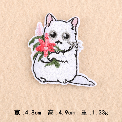 Ragdoll Cat Head Embroidered Washed Cotton Twill Cap