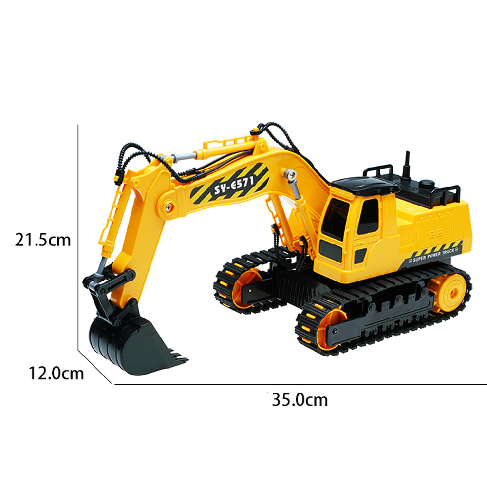 RC Car Heavy Simulation Excavator Model Free Wheeler Die Cast Construction toys for boys Gifts For Kids Dropshipping
