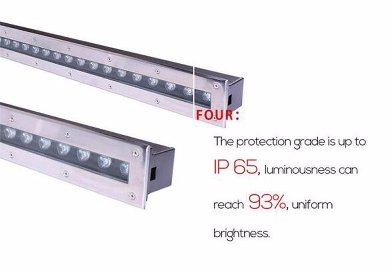 /  L200 * W80 * H60MM Rectángulo 4 * 1W Led de luz subterránea Led de luz de jardín IP67 AC100V-240V Luz de escalera al aire libre Terraza