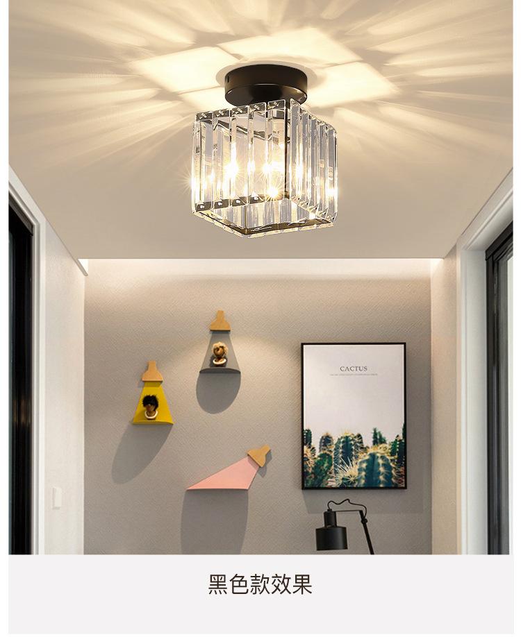 2020 Post Modern Crystal Ceiling Lamp Living Room Simple Decorative Light Luxury Northern Hallway Corridor Bedroom Led Lamp Bedside From Lightfixture 49 75 Dhgate Com