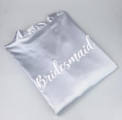 grey robe bridesmaid