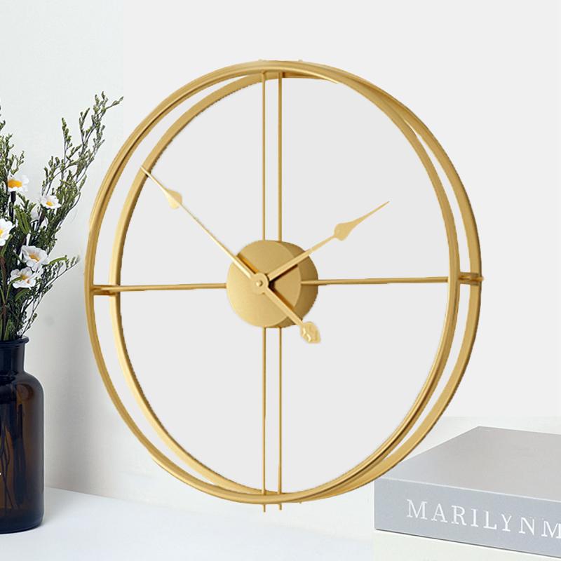2019 kurze 3d Europäischen Stil Stille Uhr Wanduhr Modernes Design für Home Office Dekorative Hängen Uhren Wand Wohnkultur