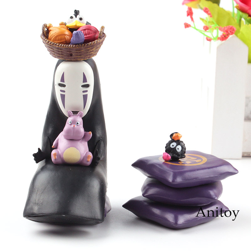 Anime Spirited Away Figure No-Face Kaonashi Faceless Man Action Figure Toy 1-7cm