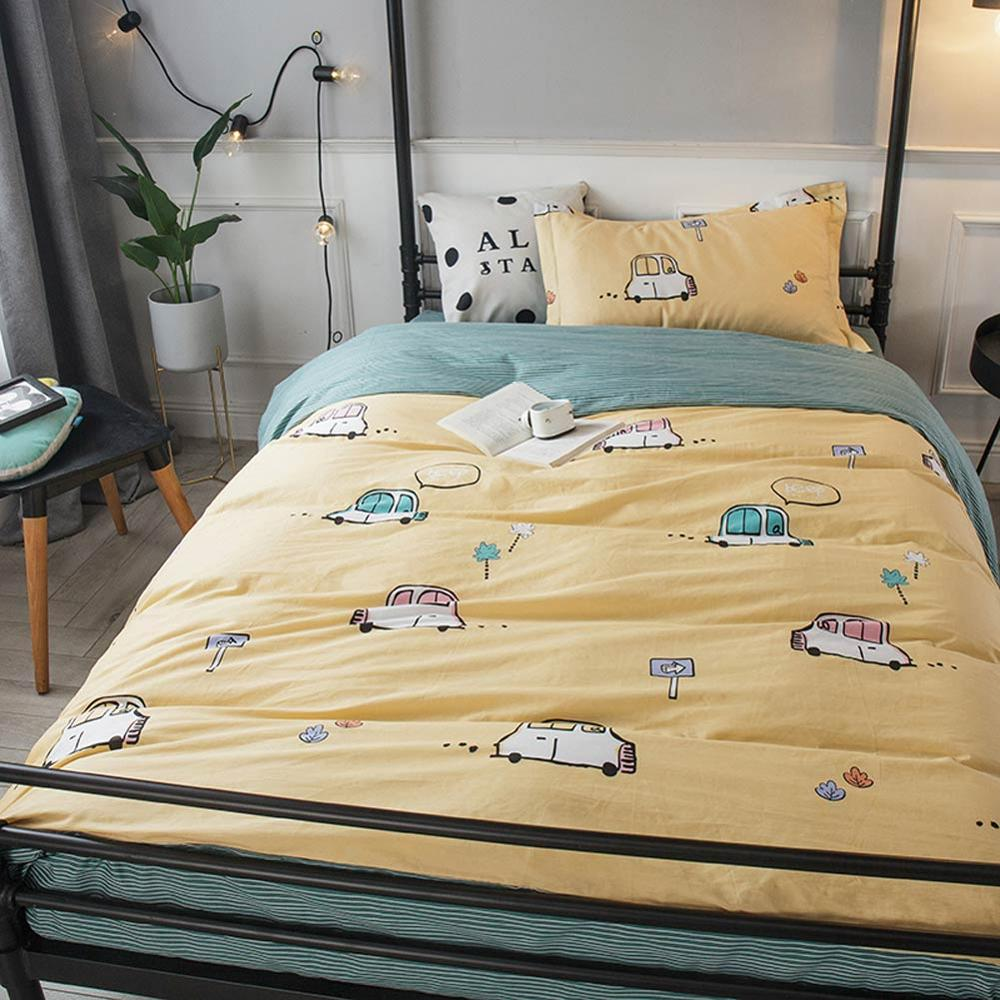 Increíble Textil Algodón Cubierta Edredón Individual Con Funda De Almohadas conjunto Collage De Diseño