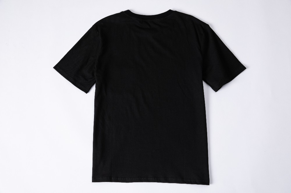 Men's Round Neck Short Sleeve Simple Print Pure Color Cotton Fabric Upper Body Is Thin And Not Shrinking Summer New T-shirt