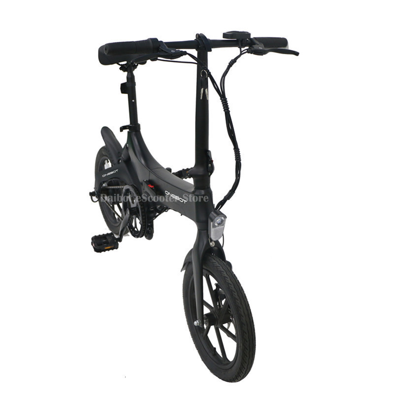 Portable Electric Scooter 250W 36V Two Wheel Electric Bicycle 16'' WhiteBlackOrange Foldable E Bike Max Range 50KM (43)
