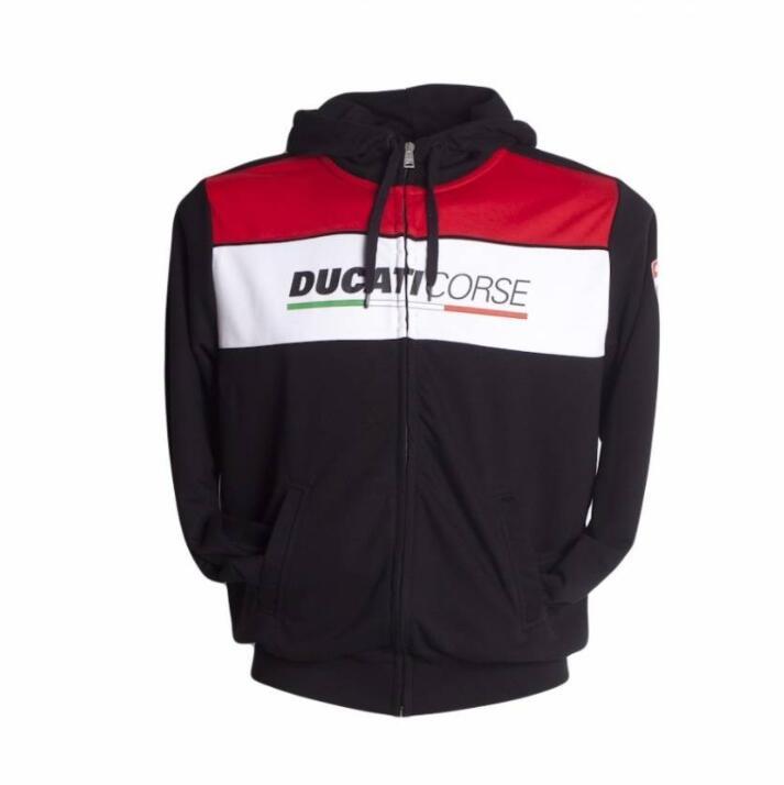 Ducati Corse Speed con Zip Giacca Felpa Maglione Felpa Cappuccio Nuovo