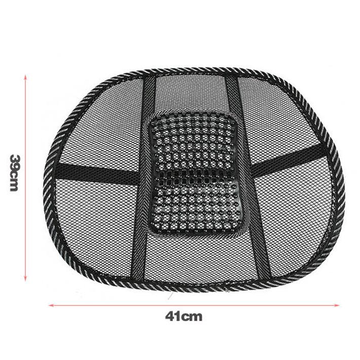Seat Massage Back Cushion Pad noir maille lombaire dorsale coussin ergonomique de soutien ergonomique pour chaise de bureau