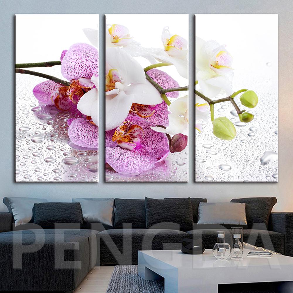 Fleur Pour Decoration Salon mur art modulaire toile hd peinture home decor belle fleur photos moderne  imprimé cuadros affiche pour le salon encadré
