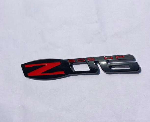 Z06 505 HP EMBLEM BLACK 2PCS WHITE ZO6 CORVETTE FENDER BADGE DECAL