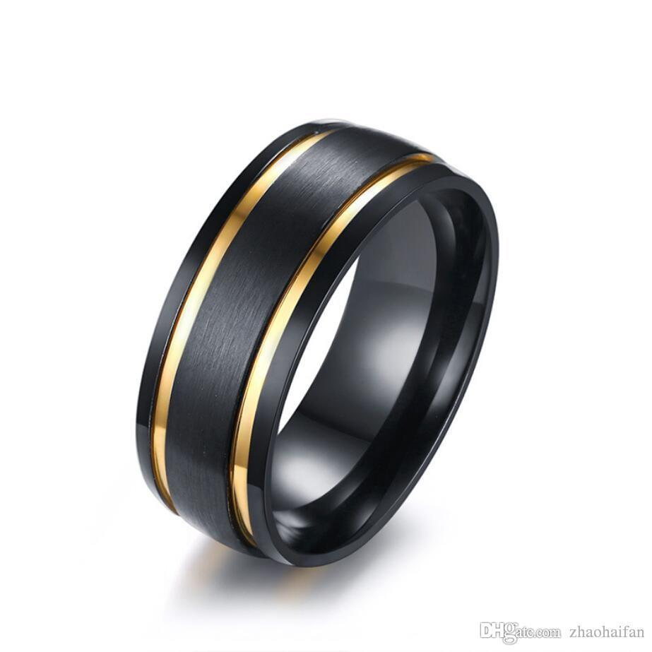 Tungsten Carbide Faceted Pyramid Step-Edge Half-Round Band Ring