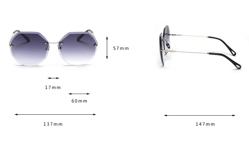 Octagon Sunglasses Women Fashion detaail (1)
