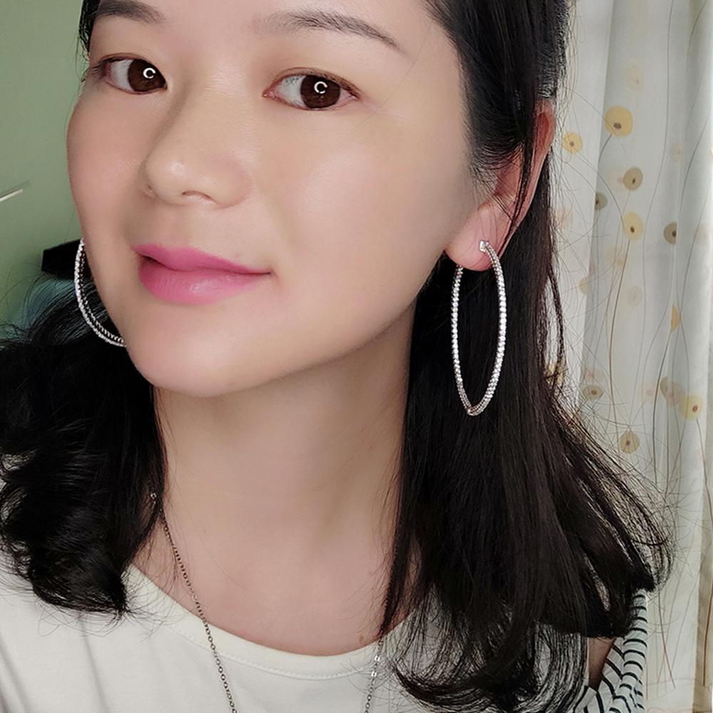 Big real silver hoop earrings (3)