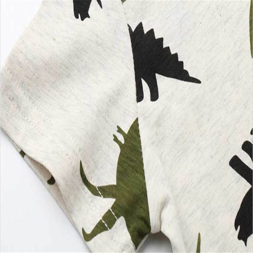 Summer Baby Boy Tops And Tees Children Infant Kid Boys Short Sleeve Cartoon Dinosaur Print T-shirt Tops Baby Boy Clothes M8Y24 (5)
