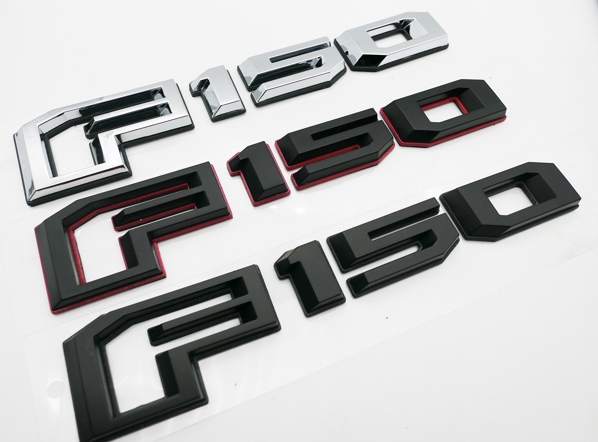 Glossy black Side Nameplates 3D Badge Replacement for F150 F250 F350 2Pcs Limited Emblems