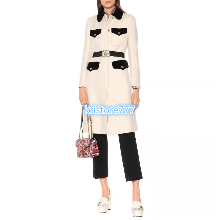 Dress Suit 2PCS Formal Dress Luxury Womens Pearl Button WOOL Tweed Jacket Coat