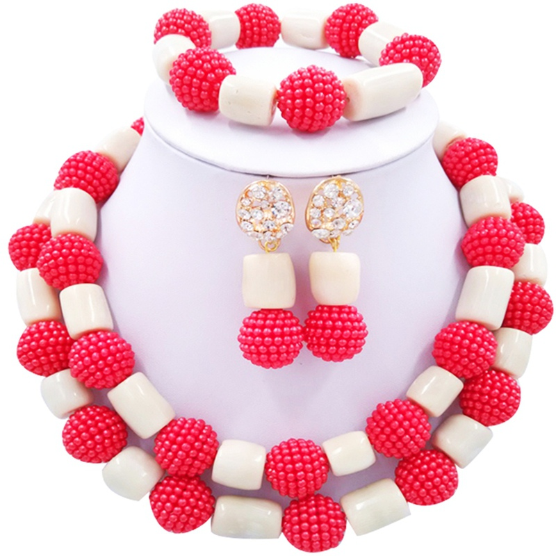 Jewelery Set Red and White
