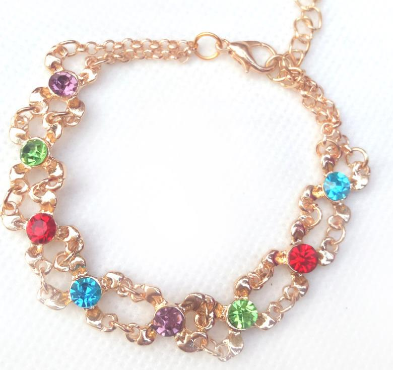 Fashion colorful rhinestone jewelry