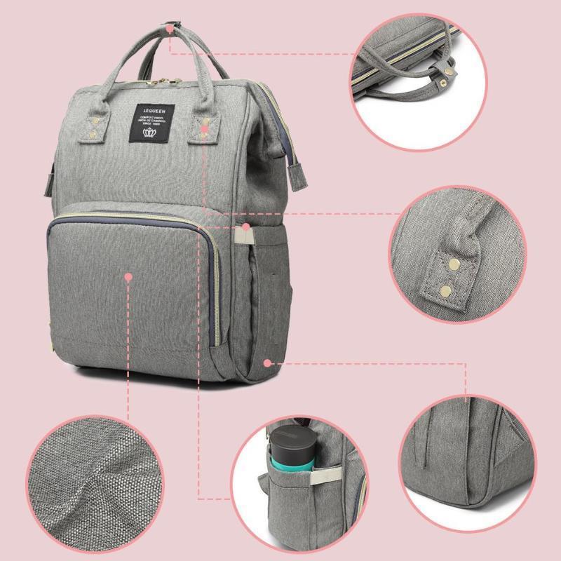 Maternity Diaper Usb Charging Mummy Daddy Backpacks Large Capacity Waterproof Casual Laptop Bag J190610