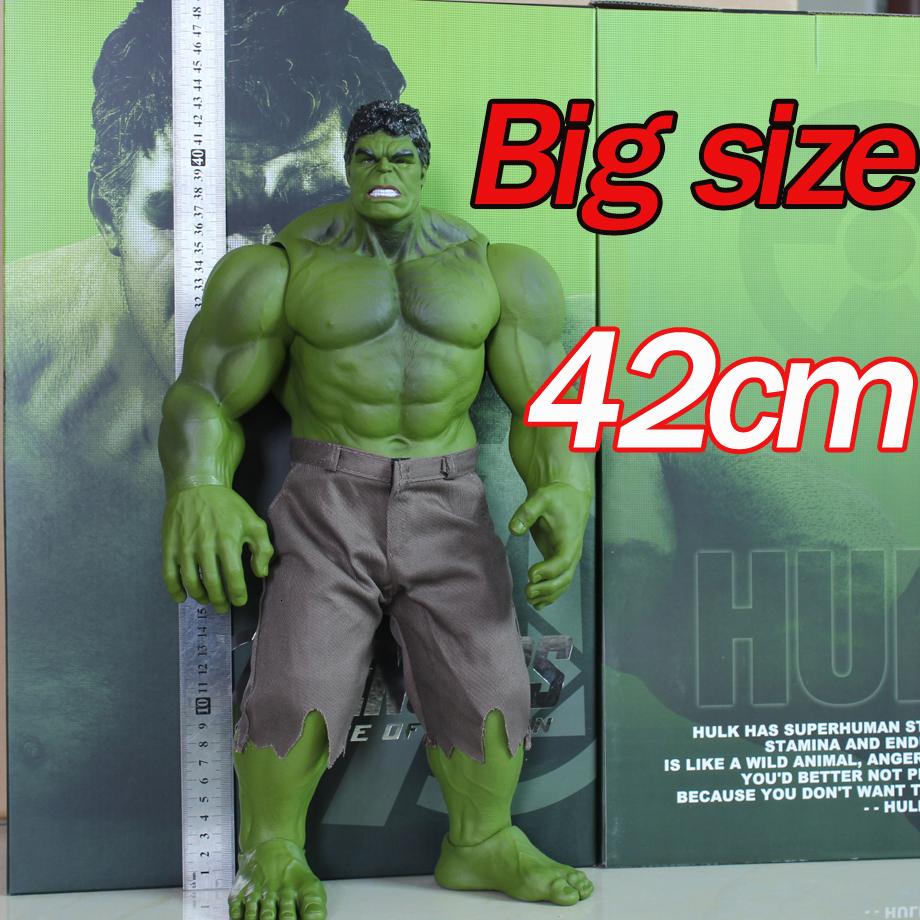 42cm Avengers Iron Man Hulkbuster hulk Ragnarok Figures Doll PVC Toy Anime green