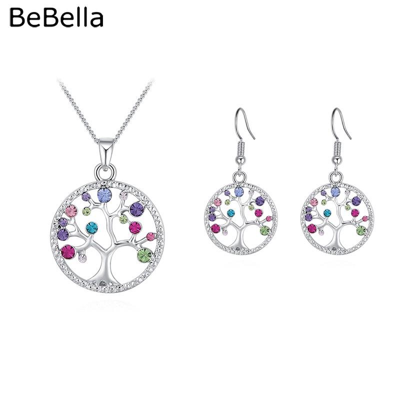 : Shamballa Juego bracelet+necklace+earrings Set Checa Cristales Boda conjuntos