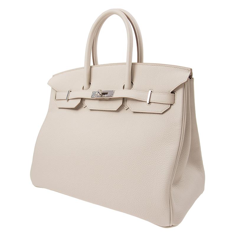 /  handbag BIRKIN 35 8L beige TOGO silver buckle handbag BK358LTGSS-BA9906
