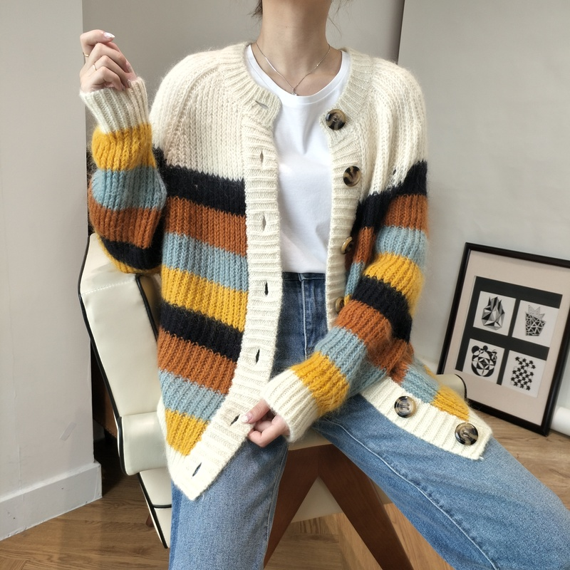 Molif Women Long Cardigan Spring Autumn Long Sleeve Tricot Cardigan Sweater Jacket Winter Tops Coat