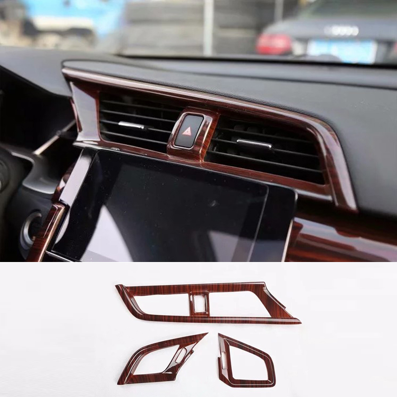 Stainless Steel Door Lock Cover Car-Styling Car Sticker JDM Case for HONDA Civic 2016-2019 Ten generations of Civic Accessories Car Styling black