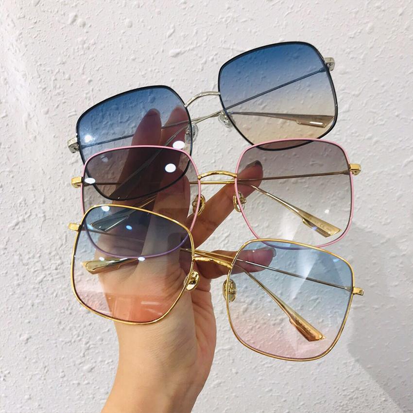 gradiente Gafas de sol Mujer Clásico Vintage De gran tamaño Lindo sexy Gafas de sol Sombras Mujer Diseñador UV400 Gafas de sol