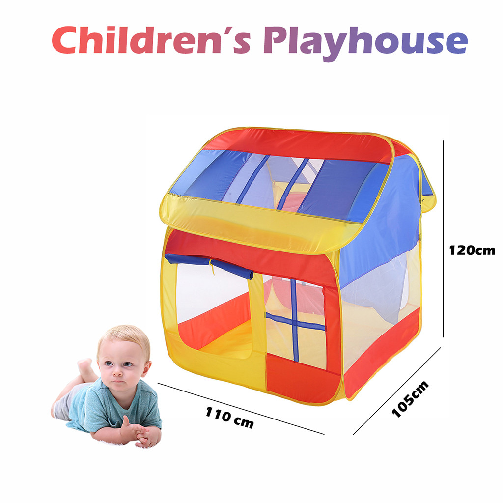 Folding Children Kids Play Castle Tent In/Outdoor Children Baby Garden Tent Indoor outdoor Game House Princess Toy ocean balls