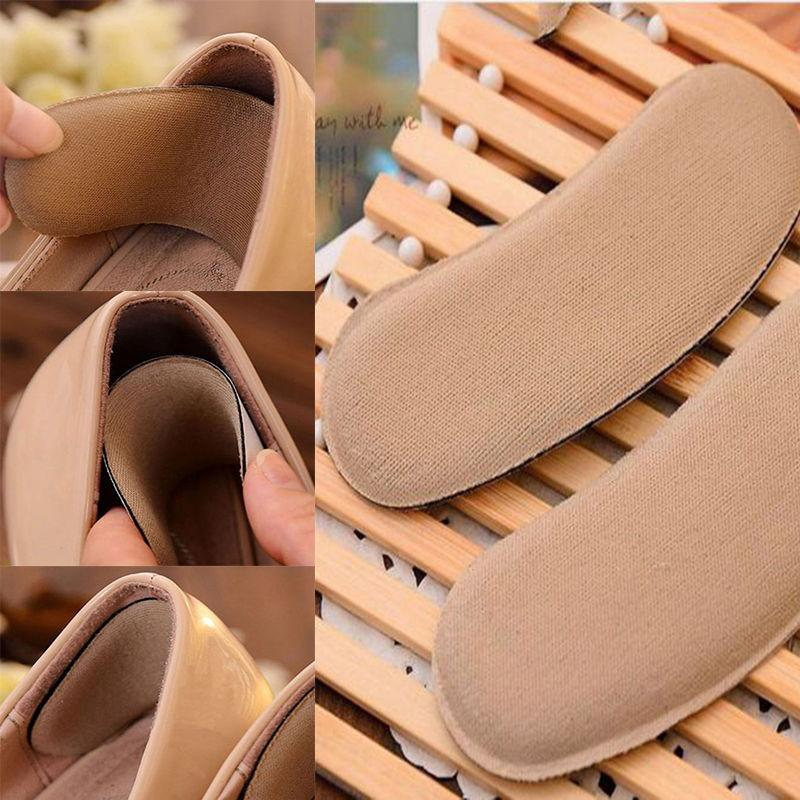 5 Pair Soft Fabric Sticky Back Heel Grip Liner Shoe Gel Cushion Insole Shoes