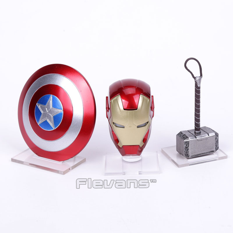 Marvel Superhero The Avengers Thor Hammer And Mask With The LED Light Cosplay