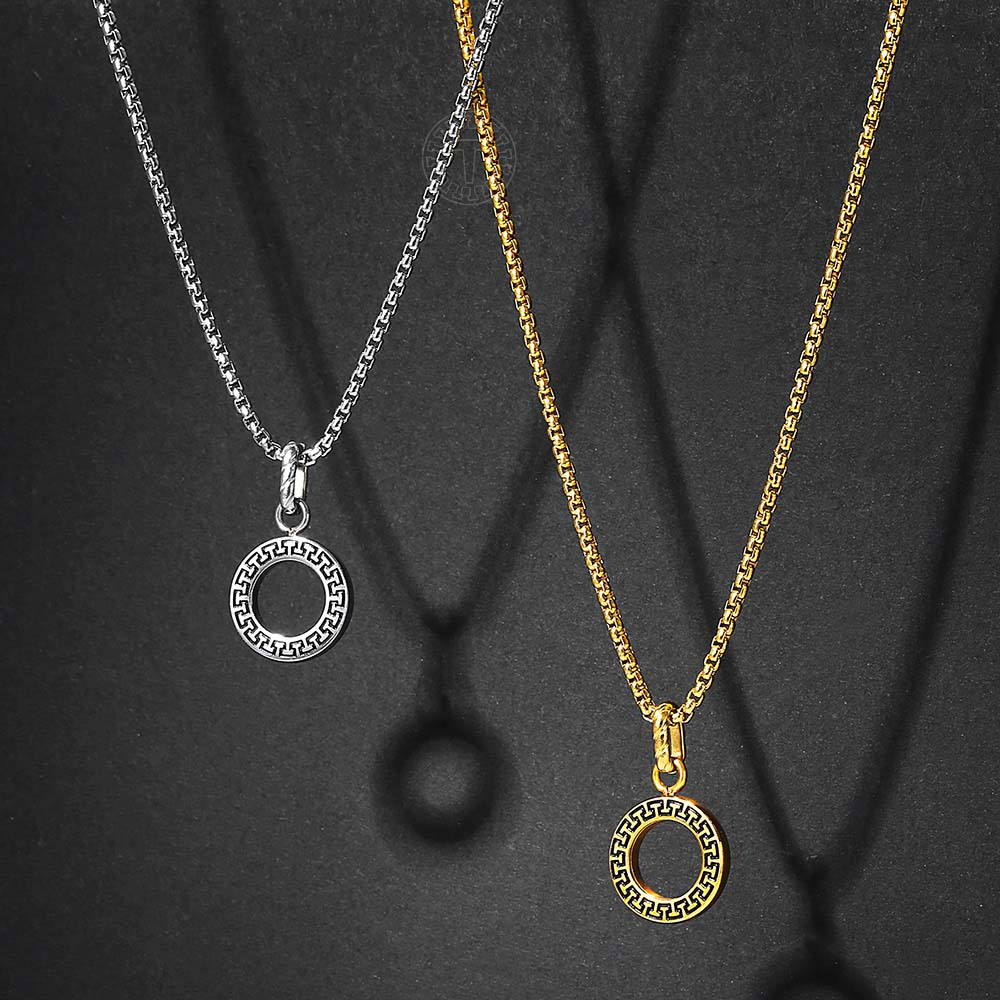 Discount Gold Chain Round Pendant Round Shape Gold Pendant Chain 2020 On Sale At Dhgate Com