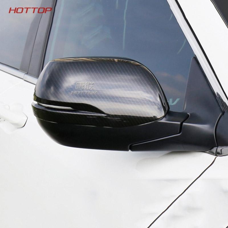 ABS cromo specchietto retrovisore laterale porta sopracciglio cover Trim 2PCS