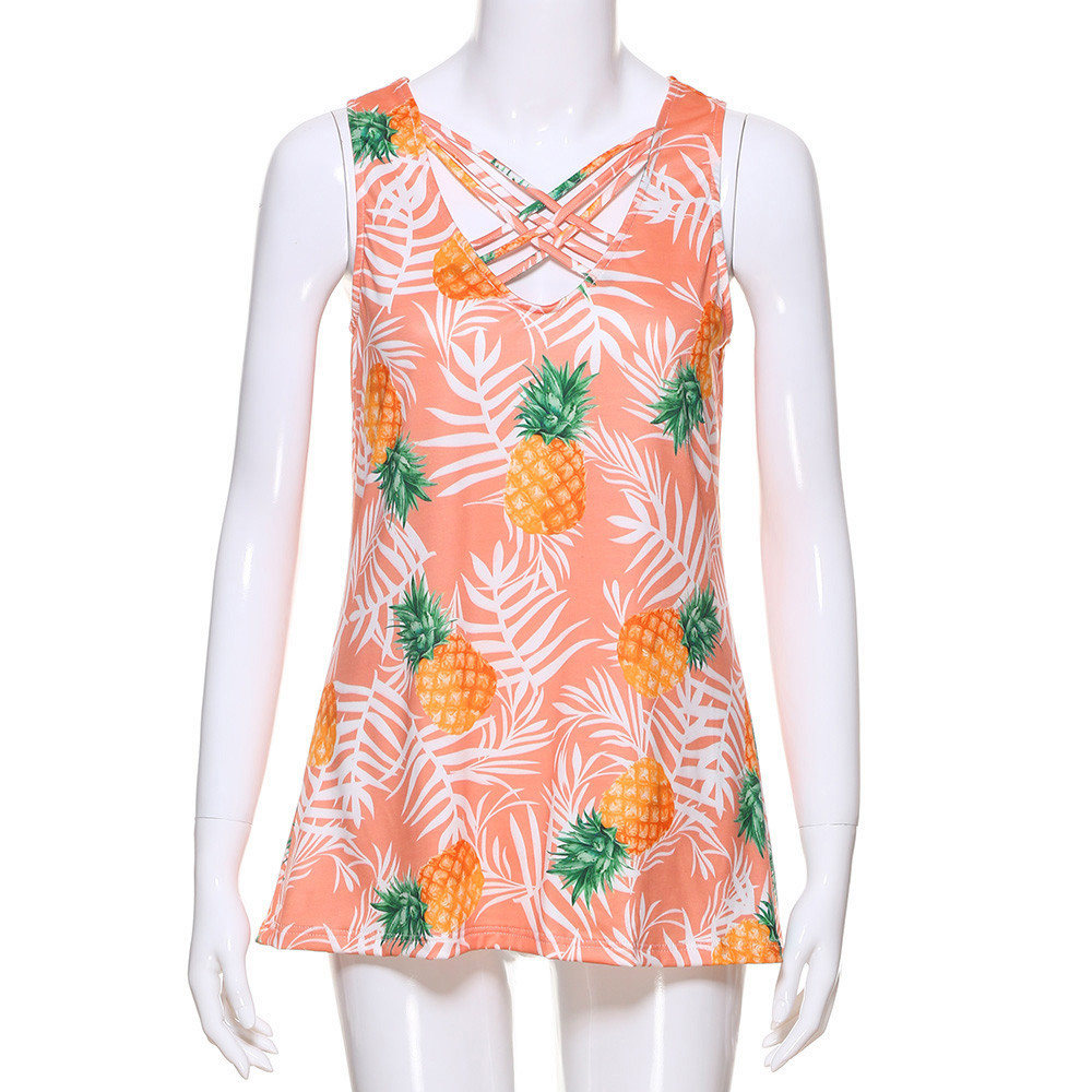 wholesale summer tops for women 2019 women's tunic strap floral print chiffon sexy tops cropped feminino plus size halter top