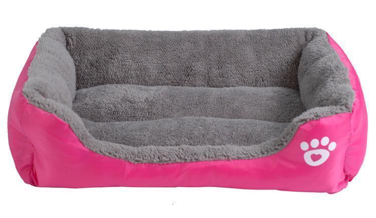 fushia dog bed