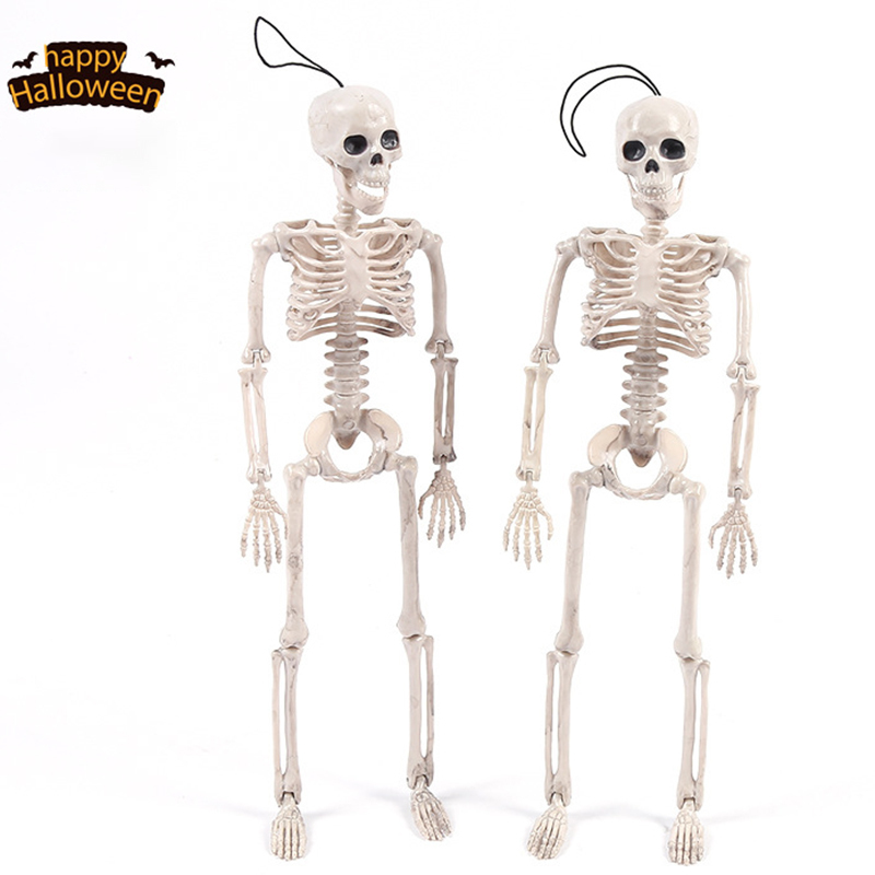 Simulated Human Body Halloween Prank Toy Flexible Funny Halloween Skeleton Human Model Skull Hallow Decoration Drop Shipping