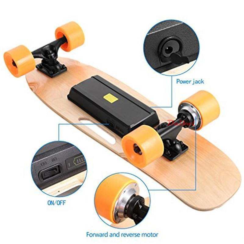 Daibot Child Electric Scooter Four Wheel Electric Scooters 120W Single Motor Portable Wireless Remote Mini Electric Skateboard (6)