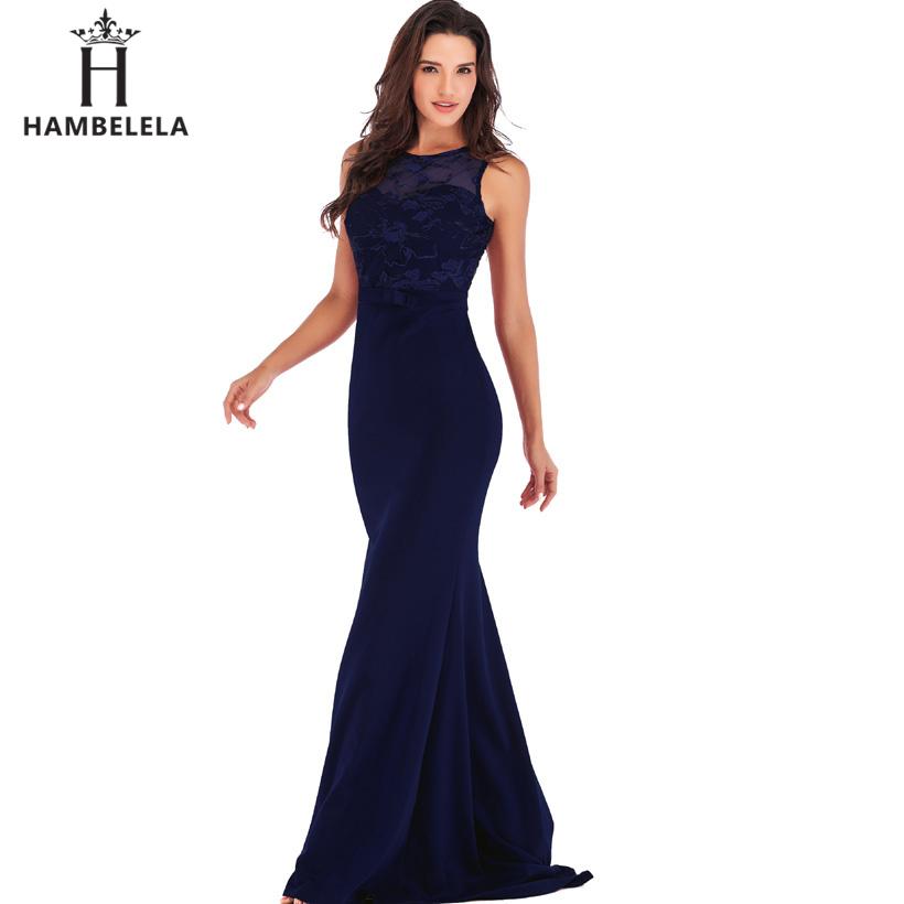HAMBELELA Long Maxi Backless 2019 Women Dress Summer Evening Party Dresses Sexy O-Neck Elegant Floral Lace Dress Vestidos Longo (9)