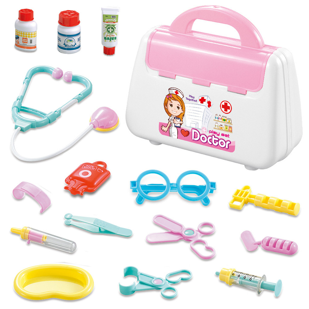 50dcfa441 Doctor Pretend Play Medical Set Case Doctor Kit Tools Accessories Educational  Role Play Toy Gift For