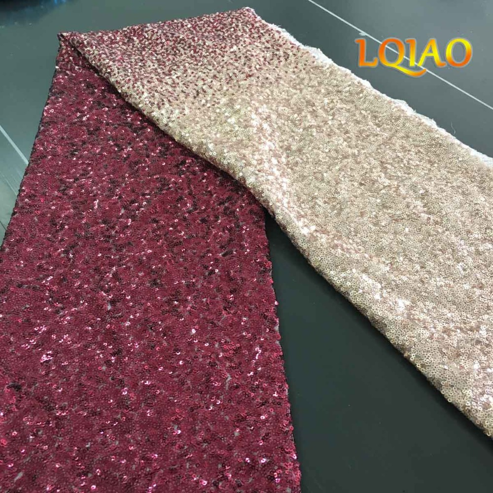 burgundy gold sequin fabric-01