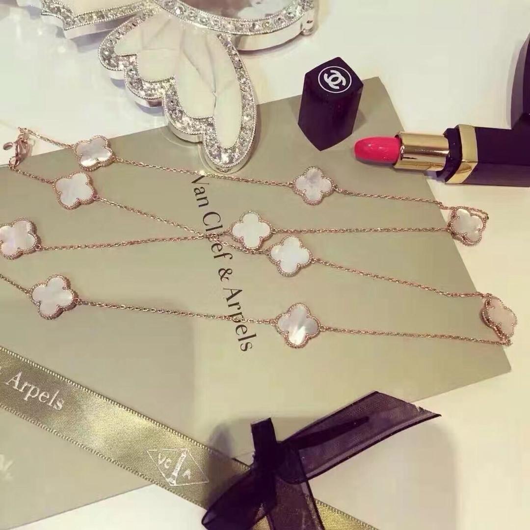 Diseñador Marca Pareja Collar Moda mujer joyería Flor Cadena larga Plata Esterlina Collar de Mujer Regalo de Cumpleaños