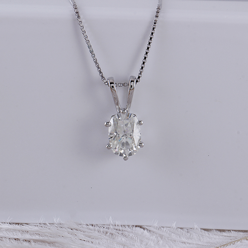 oval moissanite pendant necklace (2)