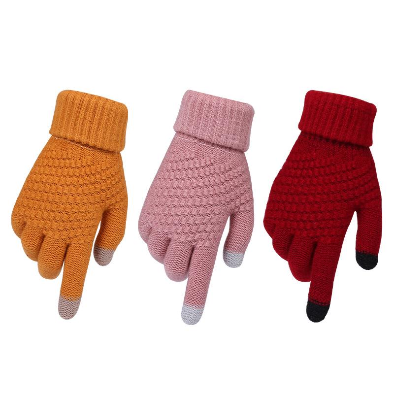 Da Uomo Termica Isolante Termico Caldo Guanto Stretch a Maglia Inverno 1 Paio di guanti