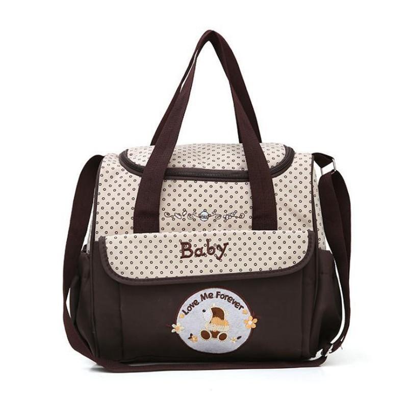 CROAL CHERIE 381830cm5pcs Baby Diaper Bag Sets changing Nappy Bag For Mom Multifunction Stroller Tote Bag Organizer (17)