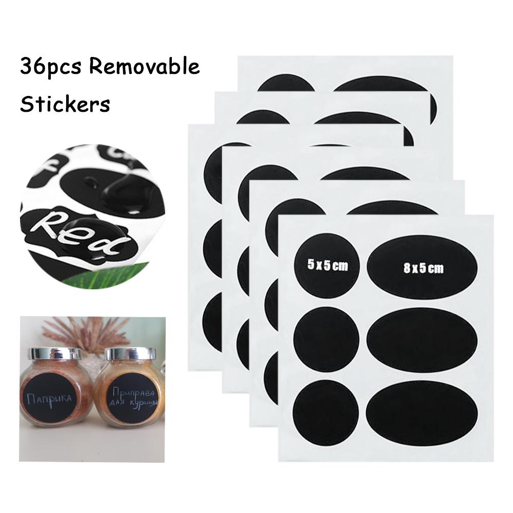 120PCS lavagna etichette adesive dispensa e bagagli Adesivi per la cucina vasetti rimovibile impermeabile Lavagna etichetta adesiva