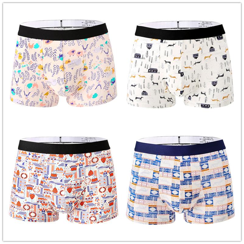 New-4pcs-Fashion-Mens-Underwear-Body-Fit-Breathable-Boxer-Sexy-Print-Boxers-Color-modal-Underwear-4PCS_