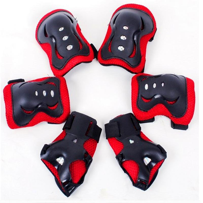 US 6pcs Adults Teen Kids Skate Wrist//Knee//Elbow Pad Outdoor Protection Safe Gear