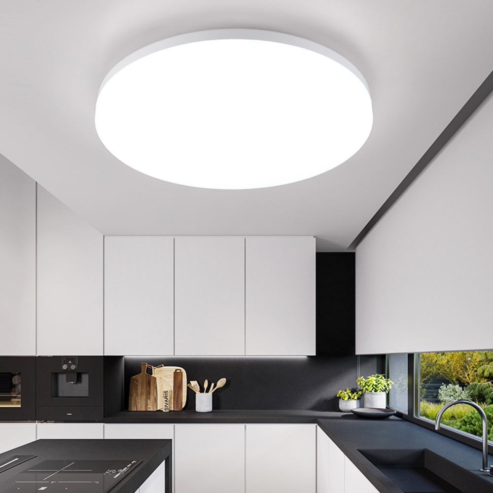 Eclairage Cuisine Led Plafond design moderne nordique ronde led blanche plafonnier lampe Équipement pour  le salon loft décor cuisine salle à manger chambre chambre