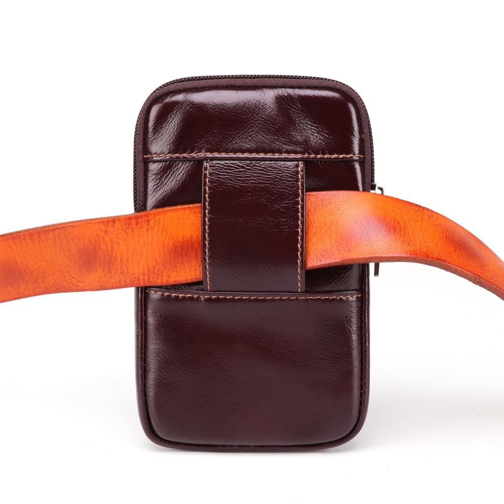 Multifunktionale Gürteltasche Geldbörse Tasche Telefon Münze Herren PU Leder
